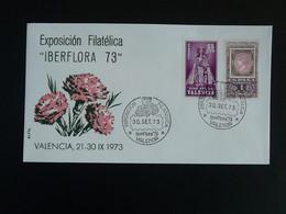 Lettre Cover Fleurs Oeillets Iberflora Valencia Espagne Spain 1973 - 1971-80 Storia Postale