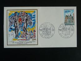 FDC Chateau Du Clos Lucé Castle Leonard De Vinci Reunion CFA 1973 - Lettres & Documents