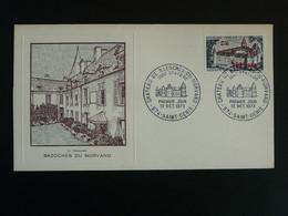 FDC Chateau Castle Bazoches Du Morvan Reunion CFA 1973 - Lettres & Documents
