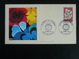 FDC Journée Du Timbre Réunion FCA 1974 - Lettres & Documents