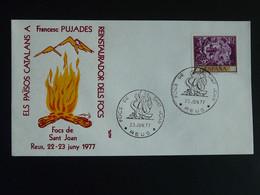 Lettre Cover Feux De La Saint-Jean Reus Espagne Spain 1977 - 1971-80 Storia Postale