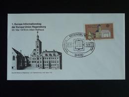 FDC Europa 1978 Regensburg Allemagne Germany - 1978