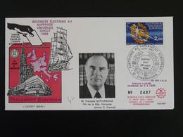 Lettre Cover Elections Du Parlement Européen Suffrage Universel Francois Mitterrand Strasbourg 1984 - Briefe U. Dokumente
