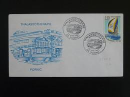 Lettre Cover Centre De Thalassothérapie Pornic 44 Loire Atlantique 1990 - Thermalisme