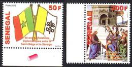 Senegal 1839/40 Vatican , Armoiries Papales, Drapeaux - Francobolli