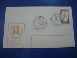 PONTEVEDRA Galicia 1975 Expo Filatelica Juvenil Cancel Cover SPAIN - 1971-80 Storia Postale