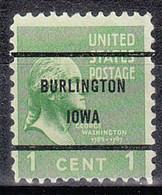 USA Precancel Vorausentwertungen Preos, Bureau Iowa, Burlington 804-61 - Precancels