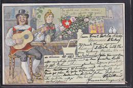 B62 /   Kunstkarte A. Glattacker Schwarzwald Emmendingen / Zeitung Müllheim Um 1900 - Autres Illustrateurs