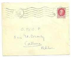 SAVOIE / HAUTE Dépt N° 74 = MEGEVE 1942 (BD 4 Lignes) = FLAMME RBV Muette ' 5 Lignes Ondulées' - Mechanical Postmarks (Advertisement)