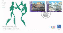 United Nations New York FDC 2004 Athens Olympic Games (LD39) - Zomer 2004: Athene