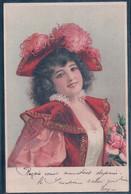 Portrait De Femme, Jeune Fille Au Chapeau, Litho Et Brillant (3.6.1901) - Mujeres