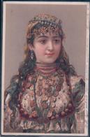 Jeune Fille En Costume Et Couronne, Litho Et Brillant (23.6.1901) - Mujeres