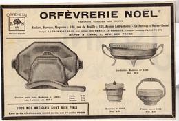 RARE PUB SUR PAPIER - 1927 - ORFEVRERIE NOEL - LE PERREUX SUR MARNE - SEINE - LILLE - Pubblicitari