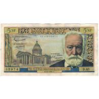 France, 5 Nouveaux Francs, Victor Hugo, 1961, 1961-02-02, TTB, Fayette:56.6 - 5 NF 1959-1965 ''Victor Hugo''