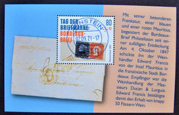 "Bund/BRD September 2021,  Block 88 ""Tag Der Briefmarke-Bordeaux-Brief"", MiNr 3623, Ersttagsgestempelt - Usati"