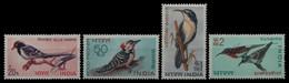 Indien 1968 - Mi-Nr. 464-467 ** - MNH - Vögel / Birds - Unused Stamps