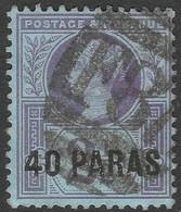 British Levant. 1887-96. 40pa Used. SG 4 - British Levant