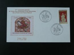 Lettre Commemorative Cover Richard Coeur De Lion Medieval Moyen Age Cussac 87 Haute Vienne 1999 - Storia Postale