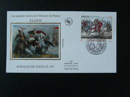 FDC Roi King Clovis Cheval Horse Bataille De Vouillé Cheval Horse Medieval History 86 Vienne 2012 - 2010-2019