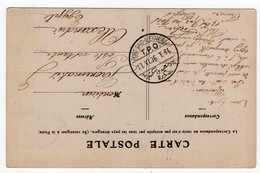 T.P.O. Port-Said - Alexandria On PC Of Troyes - 1866-1914 Khedivato De Egipto