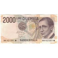 Billet, Italie, 2000 Lire, 1990-1992, Undated (1990-92), KM:115, SUP - 2000 Lire