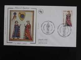 FDC Reine Queen Alienor D'Aquitaine Moyen Age Medieval Fontevraud L'Abbaye 49 Maine Et Loire 2004 - Donne Celebri