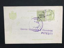 ROMANIA 1916 Pre-paid Postcard Uprated `timbru De Ajutor` - To Pitesti - Covers & Documents