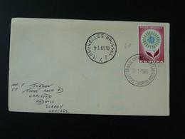 Europa Sur Lettre On Cover Oblitération Base Antarctique Belge Au Pole Sud 1965 (ex 3) - Briefe U. Dokumente