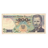 Billet, Pologne, 200 Zlotych, 1982, 1982-06-01, KM:144b, TB+ - Pologne