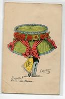 """ILLUSTRATEUR G MOUTON  1909 """" Muguette Dernier Chic  Parisien """"  Chapeau Géant Cacchant Couple Amoureux  écriteD18 2019 - Other Illustrators"""