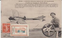 """REIMS (51) - Grande Semaine D'Aviation De Champagne - C. Wachter - Vignette """"Grand Concours De Musique 1910 - Bon état - Reims"""