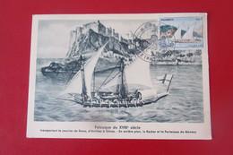 Carte Maximum  MONACO-1960(N°cat  Yvert Taxe 56 ) Bateaux  Felouque - Postcards