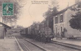 Cpa LE TARN ET GARONNE MONTRICOUX LA GARE 1913 - Stations With Trains