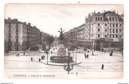 SPAIN ZARAGOZA PASEO DE LA INDEPENDENCIA USED SPAIN WITH SPANISH STAMP - Zaragoza