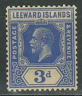 Leeward Islands 1908 D ☀ Deep Ultramarine SG68a -CAT £65 ☀ VMLH OG - Leeward  Islands