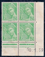 France YT 414 Mercure CD 10/01/39 NSG - ....-1929