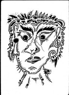 Tableau Dessin Oeuvre Mozart Musique Music Outsider Art Brut Peculiar Art Singulier Tatoo Art Tribal - Dessins