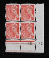 FRANCE  ( FCD3 - 1092 )  1938  N° YVERT ET TELLIER  N° 408   N** - 1930-1939