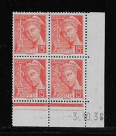 FRANCE  ( FCD3 - 1093 )  1938  N° YVERT ET TELLIER  N° 408   N** - 1930-1939