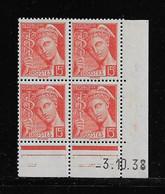 FRANCE  ( FCD3 - 1094 )  1938  N° YVERT ET TELLIER  N° 408   N** - 1930-1939