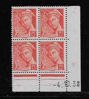 FRANCE  ( FCD3 - 1095 )  1938  N° YVERT ET TELLIER  N° 408   N* - 1930-1939