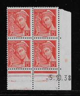 FRANCE  ( FCD3 - 1096 )  1938  N° YVERT ET TELLIER  N° 408   N** - 1930-1939