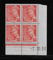 FRANCE  ( FCD3 - 1098 )  1938  N° YVERT ET TELLIER  N° 408   N** - 1930-1939