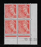 FRANCE  ( FCD3 - 1100 )  1938  N° YVERT ET TELLIER  N° 408   N** - 1930-1939