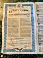 Caisse  Autonome  Des  Monopoles  Du  ROYAUME  De  ROUMANIE  ------------Obligation  Or  7% De  100$ - Unclassified