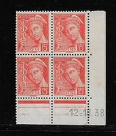 FRANCE  ( FCD3 - 1102 )  1938  N° YVERT ET TELLIER  N° 408   NSG - 1930-1939