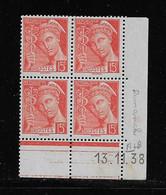 FRANCE  ( FCD3 - 1104 )  1938  N° YVERT ET TELLIER  N° 408   N** - 1930-1939