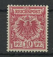 Deutsches Reich 47 D *, Geprüft Jäschke-Lantelme - Ongebruikt