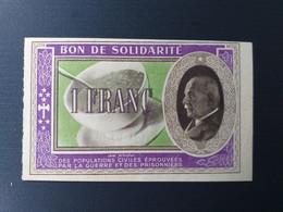 FRANCE BON DE SOLIDARITE 1 FRANC PETAIN 1940/44 - Unclassified