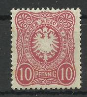 Deutsches Reich 41 B *, Geprüft Jäschke-Lantelme - Unused Stamps